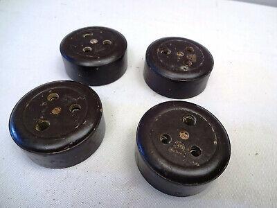 Vintage Electric Plug Socket Bakelite And Ceramic Standard 5 Amp 250 V 4 Pc Old