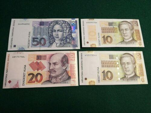 CROATIA 10-20-50 KUNA 2001-2004  UNC
