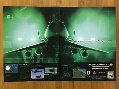 Ace Combat 3: Electrosphere PS1 1999 Vintage Print Ad/Poster Official Promo Art