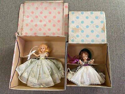 Vintage Nancy Ann Storybook Dolls #154 Curly Locks, Curly Locks & #191 Flower GL