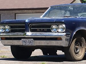ICONIC 1964 GTO  #s MATCHING GM POST CAR!!