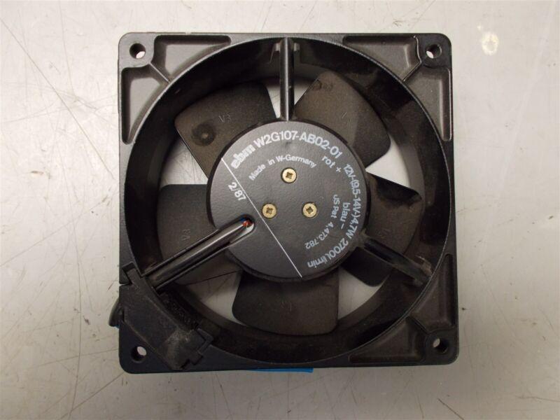 EBM W2G107-AB02-01 Fan 12V-(9.5-14V) 4.7W 2700 RPM