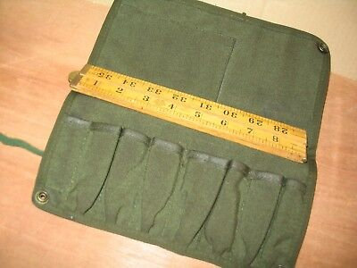 EMPTY EX MILITARY SMALL TOOL ROLL NO K101 IDEAL SIZE SUIT BSA TRIUMPH CRAFTS