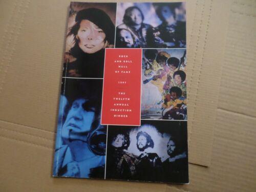 12th Rock & Roll HALL OF FAME INDUCTION PROGRAM 1997 JACKSON 5 P-FUNK BGees Joni