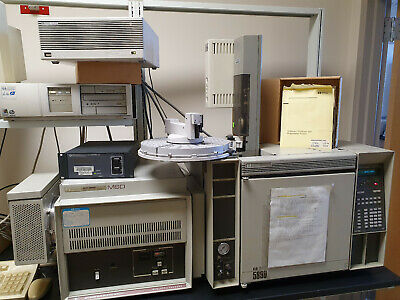 Hp Agilent 5890a Series Ii Gas Chromatograph Hp 7673 Hp G1512 Comp Software