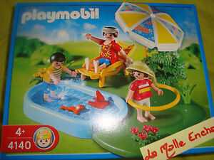 La famille a la piscine playmobil ref 4140 neuf ebay for Piscine playmobil