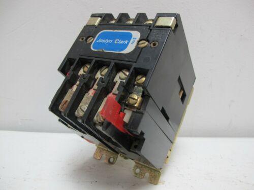 Joslyn Clark T13U030 Motor Contactor 18 Amp 120V Coil Sylvania AO Smith 6013 TM