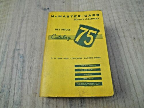 McMASTER-CARR SUPPLY CO. CATALOG 75 , 1969