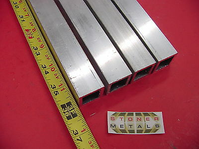 4 Pieces 1x 1x 18 Wall X 36 Long Aluminum Square Tube 6063 T52 1 Sq X.125