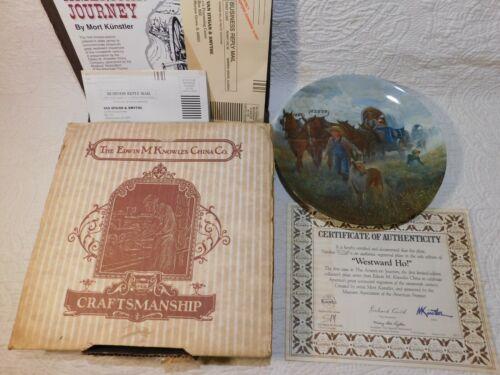 1987 WESTWARD HO! plate The American Journey series Knowles w/ BOX & COA