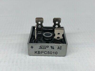 10pcs 1000v 50a Metal Case Single Phase Diode Bridge Rectifier Kbpc5010 Usa