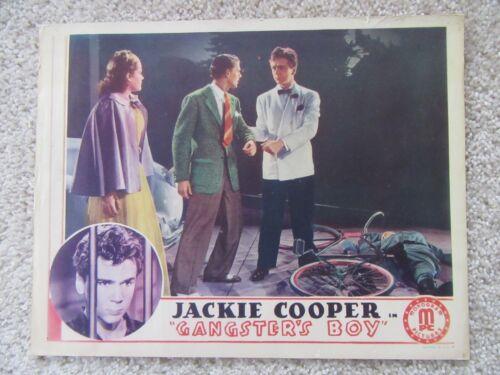 GANGSTERS BOY ORIGINAL 1938 LC 11X14 JACKIE COOPER EX