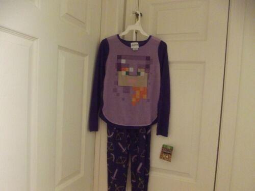Minecraft Girls Purple Pajamas Set  sz 8 ***NWT