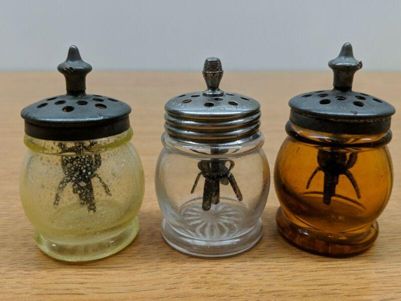 Lot Vintage Antique Christma Barrel Salt Shaker Boston & Sandwich Glass Agitator