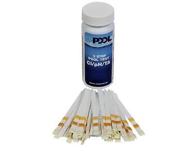 Wasserteststreifen 50er Pack für Chlor/PH Wert Pool Tester schnell Test