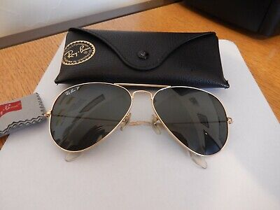 Ray Ban Aviator Polarised sunglasses (medium size)