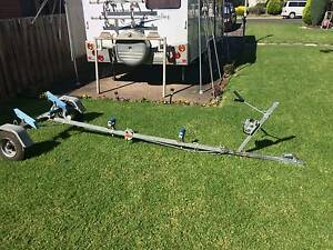 Folding boat trailer and caravan mounting platform Warranwood Maroondah Area Preview