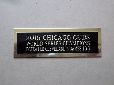 2016 Chicago Cubs Nameplate For A Baseball Ball Cube Square Or Card Plaque 1 X 3 Chicago Cubs Baseball Cube