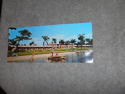 POST CARD - LAKE ROY LODGE WINTER HAVEN FLA. - 8 1/4'' X 3 5/8''