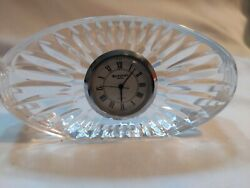 Waterford Crystal Small Oval Desk Clock