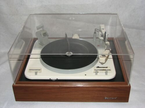 100% WORKING GARRARD TYPE A TURNTABLE, NEW STYLUS, BASE, COVER, IDLER !!!!!!!!!!