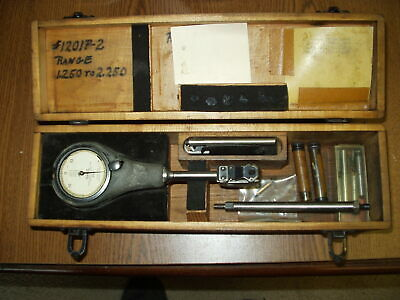 Federal Dial Bore Gage 1.250 To 2.250 Model 1201p-2 In Wood Case