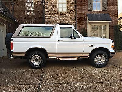 1996 ford bronco eddie bauer 114k miles 2 owner super clean used ford bronco for sale in. Black Bedroom Furniture Sets. Home Design Ideas