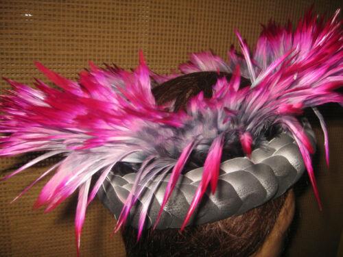 Tahitian Dance Headpiece Black Flaming Pink KaLimaNanea Fantasy Design