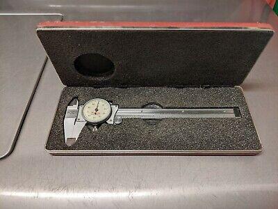 Vintage Starrett No. 120 Dial Caliper 0-6 .001 In Box
