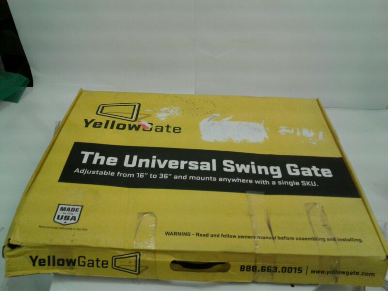 """YellowGate Adjustable Safety Swing Gate 11792, 16"""" to 36"""" Wide, Aluminum, Yellow"""