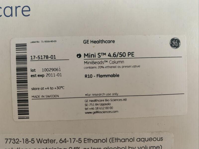 New GE Healthcare Tricorn Column Mini S 4.6/50 PE  #17-5178-01