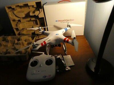 DJI Phantom 2 2.4 ghz V2 Drone UAS with Box and Transmitter Working Make Offer!