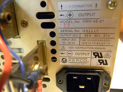 Kepco Hsm 48-21 33.6 V - 60v 1000 W. Adjustable Laser Diode Power Supply.