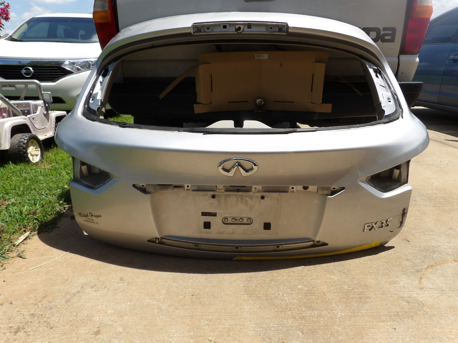 Used infiniti fx35 trunk lids parts for sale 2009 2012 infiniti fx fx1935 trunk lid tailgate lift gate oem vanachro Image collections