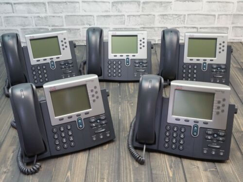 Lot of 10 Cisco 7962 CP-7962G Unified IP VoIP Phones LCD Display **NO ADAPTER**