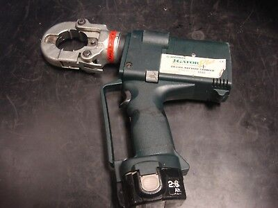 Greenlee Ek22gl Gator Plus 6 Ton Cordless High Speed Hydraulic Crimper Battery