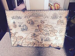Pirate Map Hanging