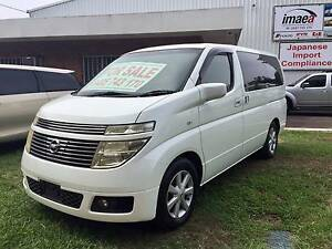 NISSAN ELGRAND E51 PEARL WHITE Maxwelton Central West Area Preview