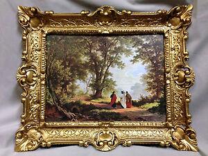 Gemälde mit Rahmen Christliche Bild Jesus Christus 56x46 Antik Bilderrahmen
