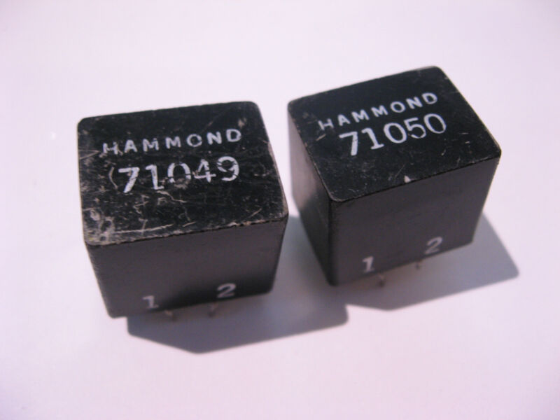 Signal Transformers Hammond 71049 71050 PCB Mount Potted - Used Pulls Qty 2