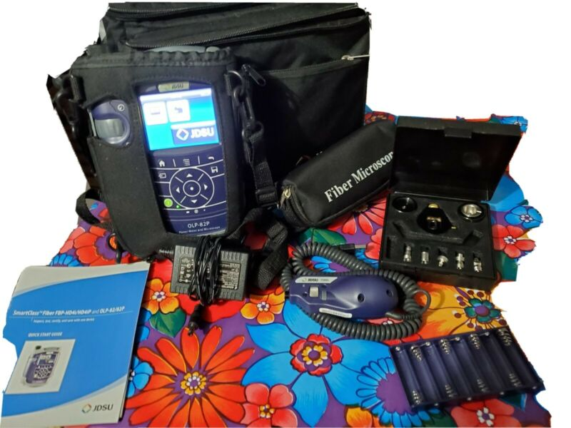 JDSU OLP-82 and JDSU P5000i microscope with extras...