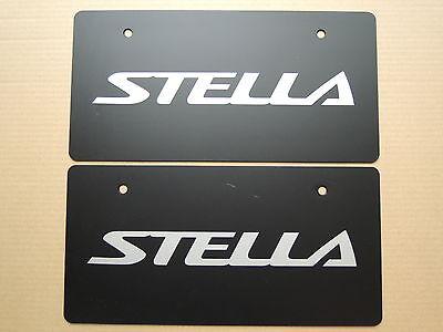 JDM SUBARU STELLA Original Dealer Showroom Display License Plates Pair