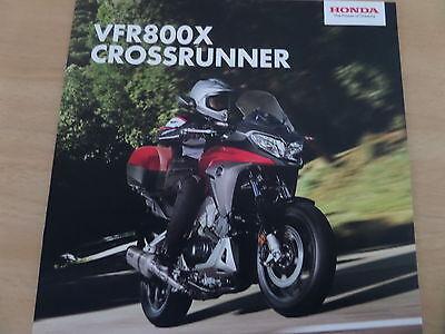 Honda VFR800X Crossrunner Motorcycle Sales Brochure 2015