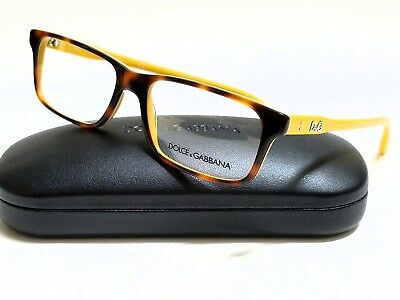 New Authentic DOLCE & GABBANA DD1244 2606 Tortoise Yellow 53/16/140 Eyeglasses