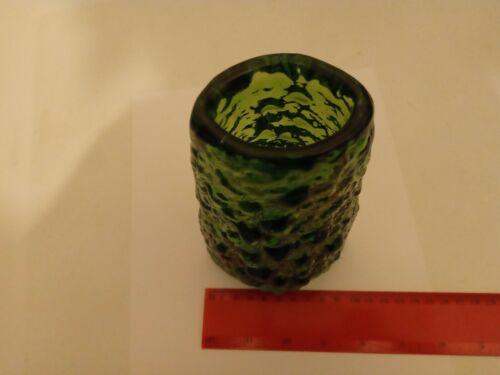 Whitefriars Green Volcano 18cm Vase Geoffery Baxter