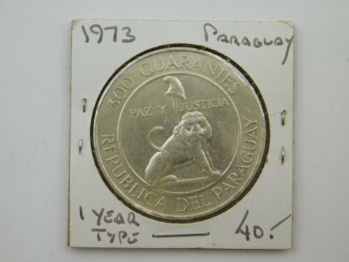 1973 Paraguay 300 Guarnies 1 Year Type Coin