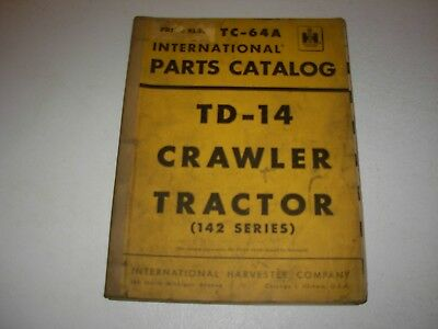 International Td-14 142 Series Crawler Tractor Parts Manual