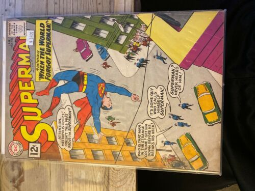 """Superman #150 VG/FN 5.0 """"WHEN THE WORLD FORGOT SUPERMAN""""! FREE SHIPPING!"""