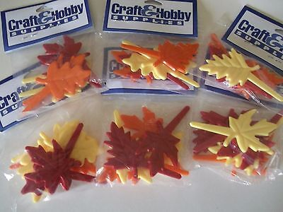 Fall Halloween Leaves Cake Decorations Cupcake Picks Crafting Picks Crafts 3 DOZ (Halloween Cupcake Cake Decorations)