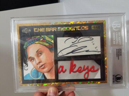 Super Break The Bar Mementos Alicia Keys Signed AUTO BGS JSA Relic